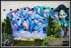 Köln - WDR-Studio Köln-Bocklemünd - Graffiti auf der Lindenstraße