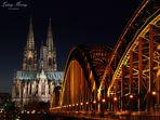 Kölner Dom mit Hohenzollernbrücke