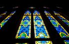 Kölner Domfenster überm Eingang