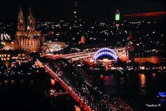 Kölner Lichter - Dom und Hohenzollernbrücke