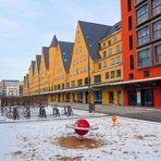 Kölner Rheinauhafen im Winter 1