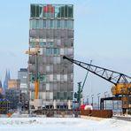 Kölner Rheinauhafen im Winter 2