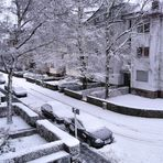 Kölner Wetterlage heute Morgen in meiner Straße