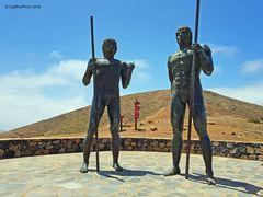 Könige von Fuerteventura Ayose und Guize Mirador Morro