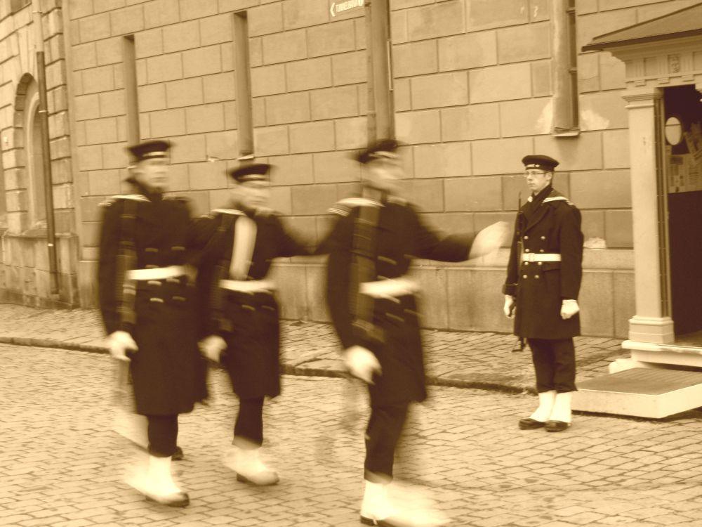 Königliche Garde in Stockholm