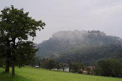 Königsstein im Morgennebel