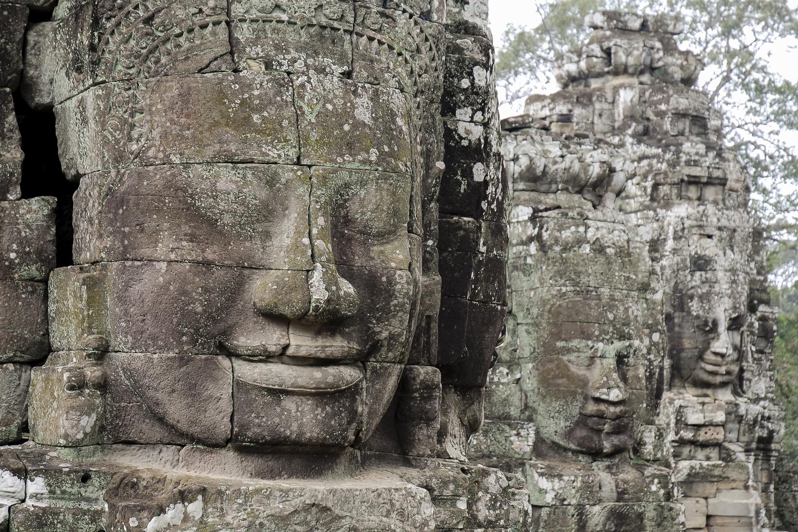 Köpfe in Angkor Wat