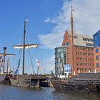 Kogge-Nachbauten zur Hanse Sail 2019 in Rostock