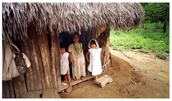 Kogi-Indianerkinder in Kolumbien