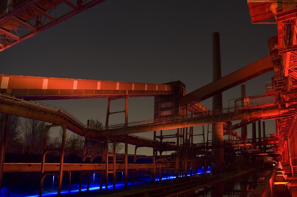 Kokerei Zollverein - Industriekulisse bei Nacht
