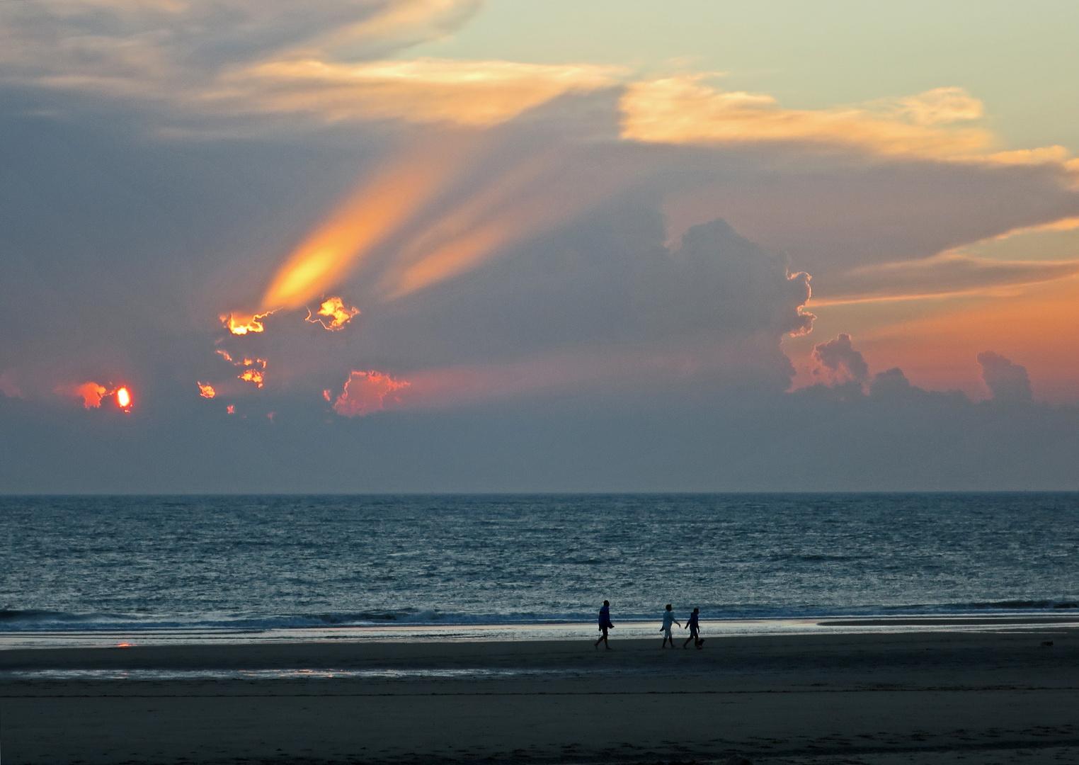 Kometen-Sonnenuntergang