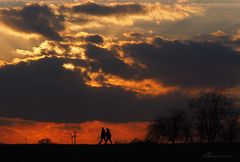 Komm, wir laufen in den Sonnenuntergang...