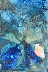Komposition in Blau – Encaustic