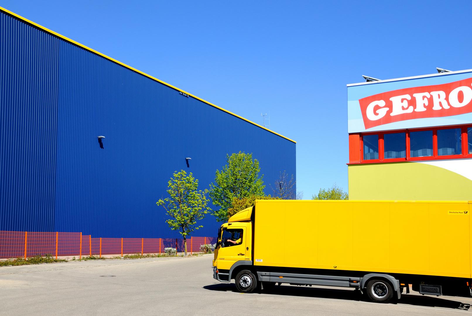 Komposition in Gelb und in Blau