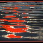 Komposition in Schwarz - Weiß - Rot