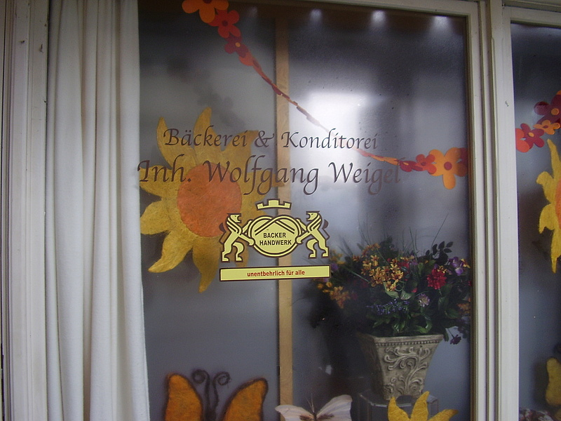 Konditorei Weigel Foto an der Türe