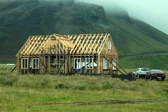 Konstruktion Island-Haus