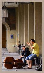 Konzertmusiker unter den Lauben im Hofgarten München