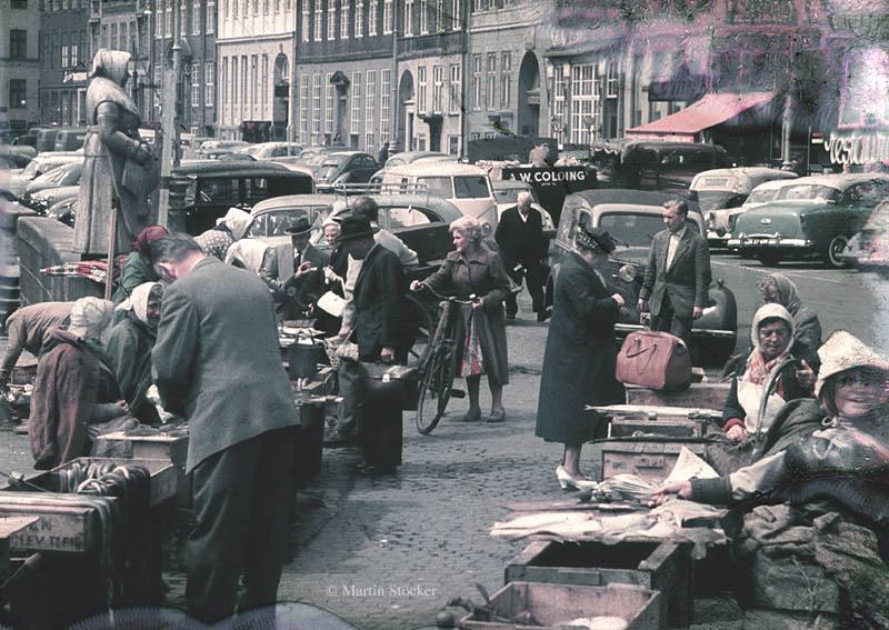 Kopenhagen, Fischmarkt, 1958