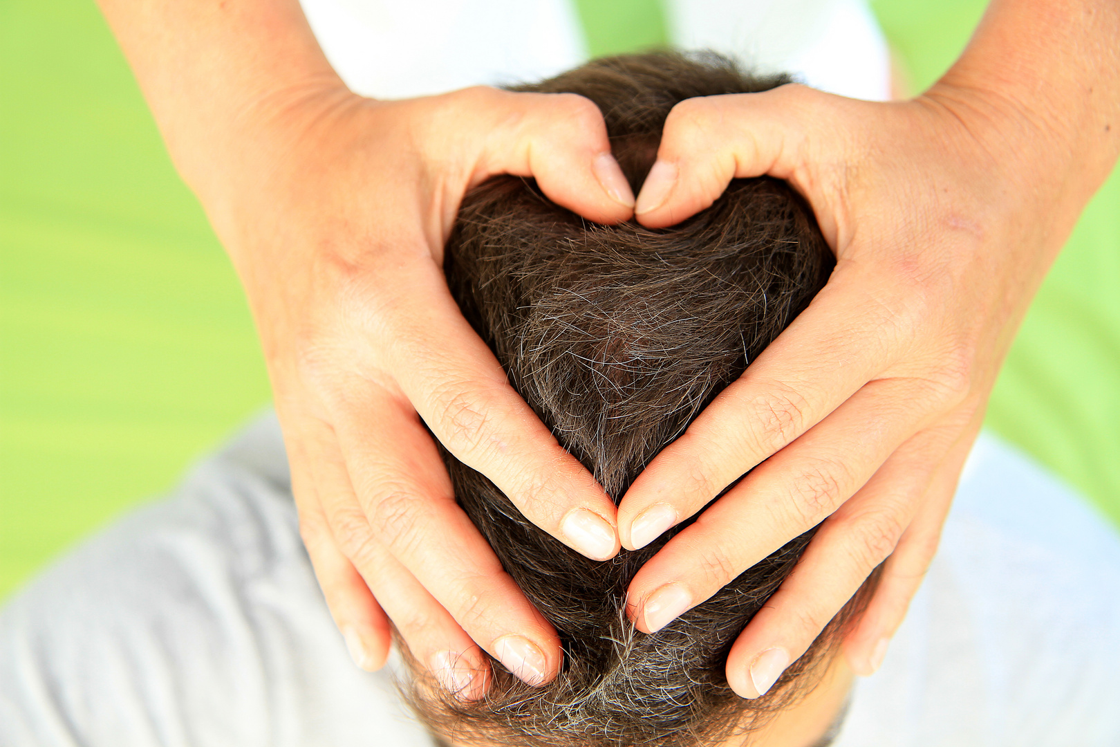 Kopfmassage mit Herz