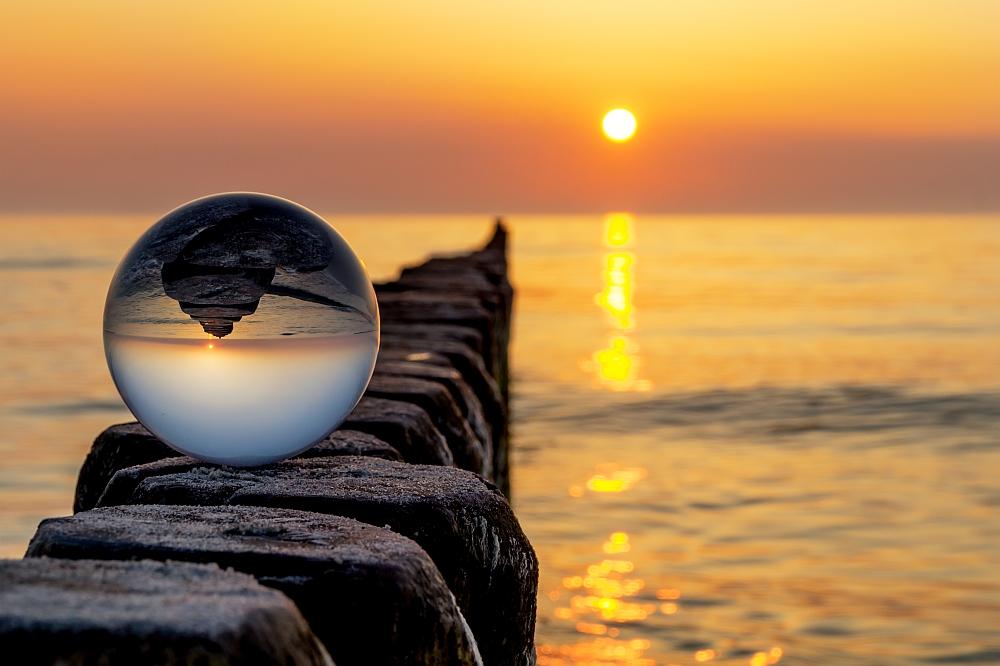 Kopfstand der Abendsonne