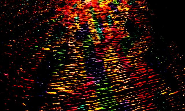 Kopfsteinpflaster beleuchtet