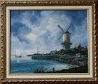 """Kopie nach Bild von Jacob van Ruisdael"""" Die Mühle von Wijk bei Duurstede"""""""