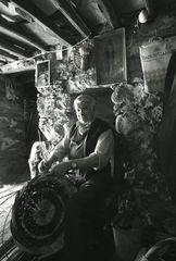 Korbflechter aus Volax auf Tinos
