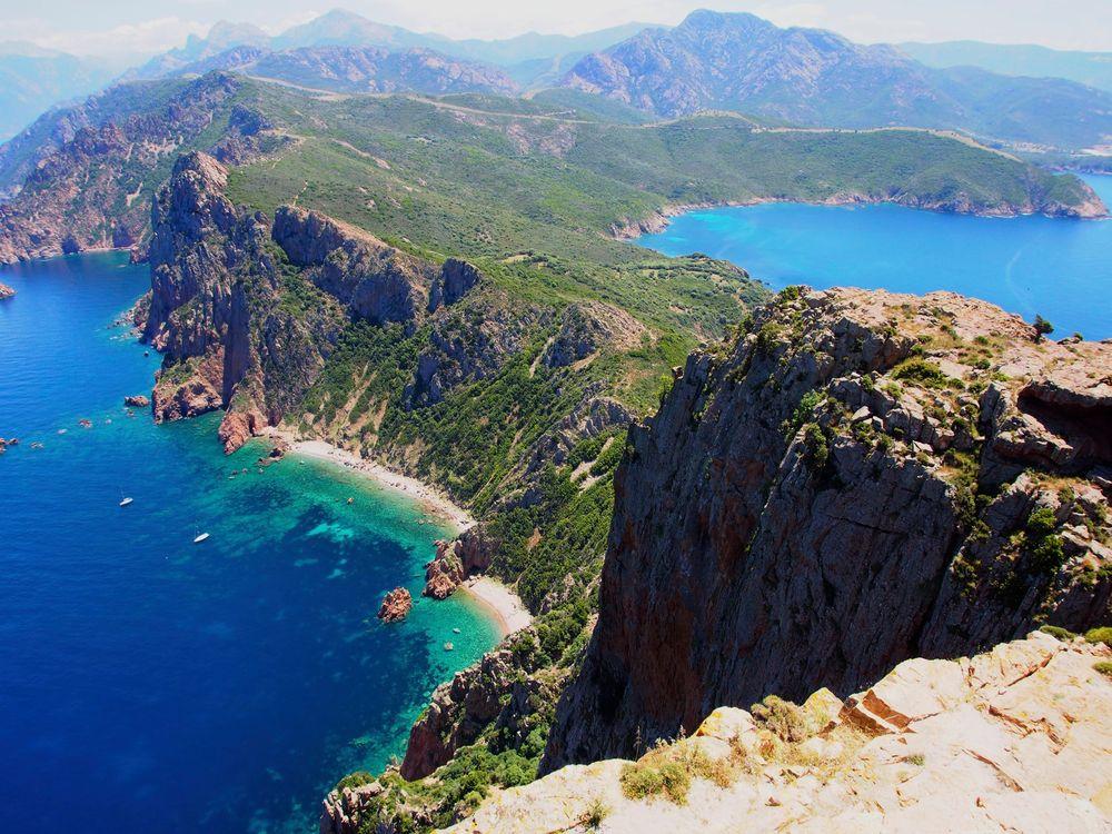 Korsika - Capu Rosso Felsrücken