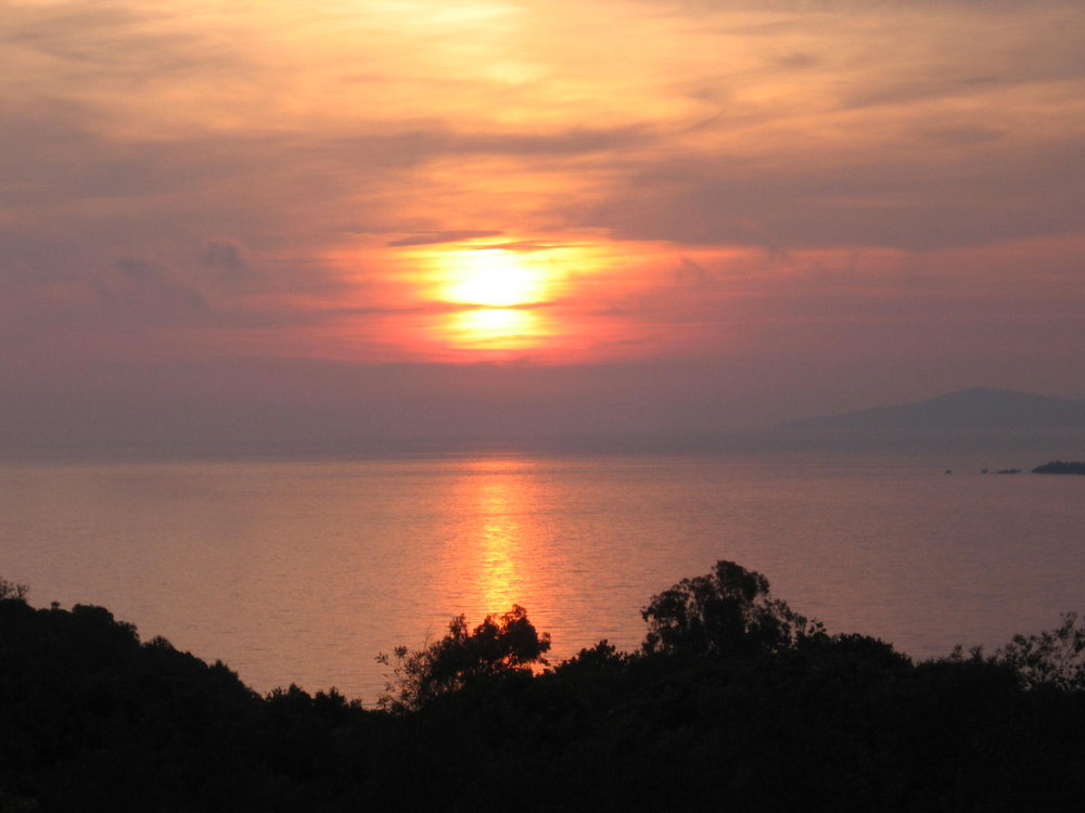 Korsika - Sonnenuntergang in Calcatoggio