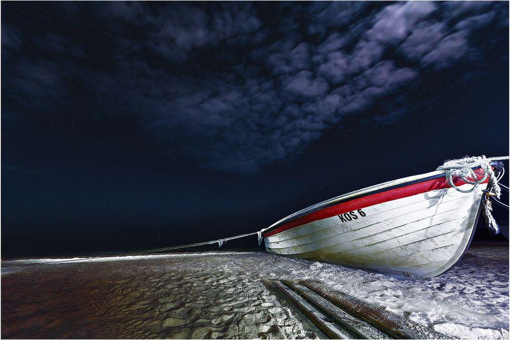 Koserow beach by night