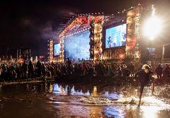 Kostrzyn, August 2015: Haltestelle Woodstock, Coma