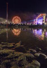 Kostrzyn, August 2015: Haltestelle Woodstock, more Coma
