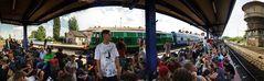 Kostrzyn, Przystanek Woodstock August 2014: Bahnhof.