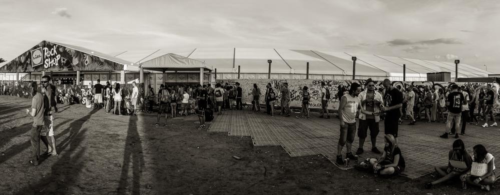 Kostrzyn, Przystanek Woodstock Juli 2014: der Lidl-Rockshop