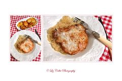 Kotelett mit Kraut und Bratkartoffeln