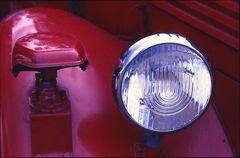 Kotflügel eines alten Feuerwehrautos