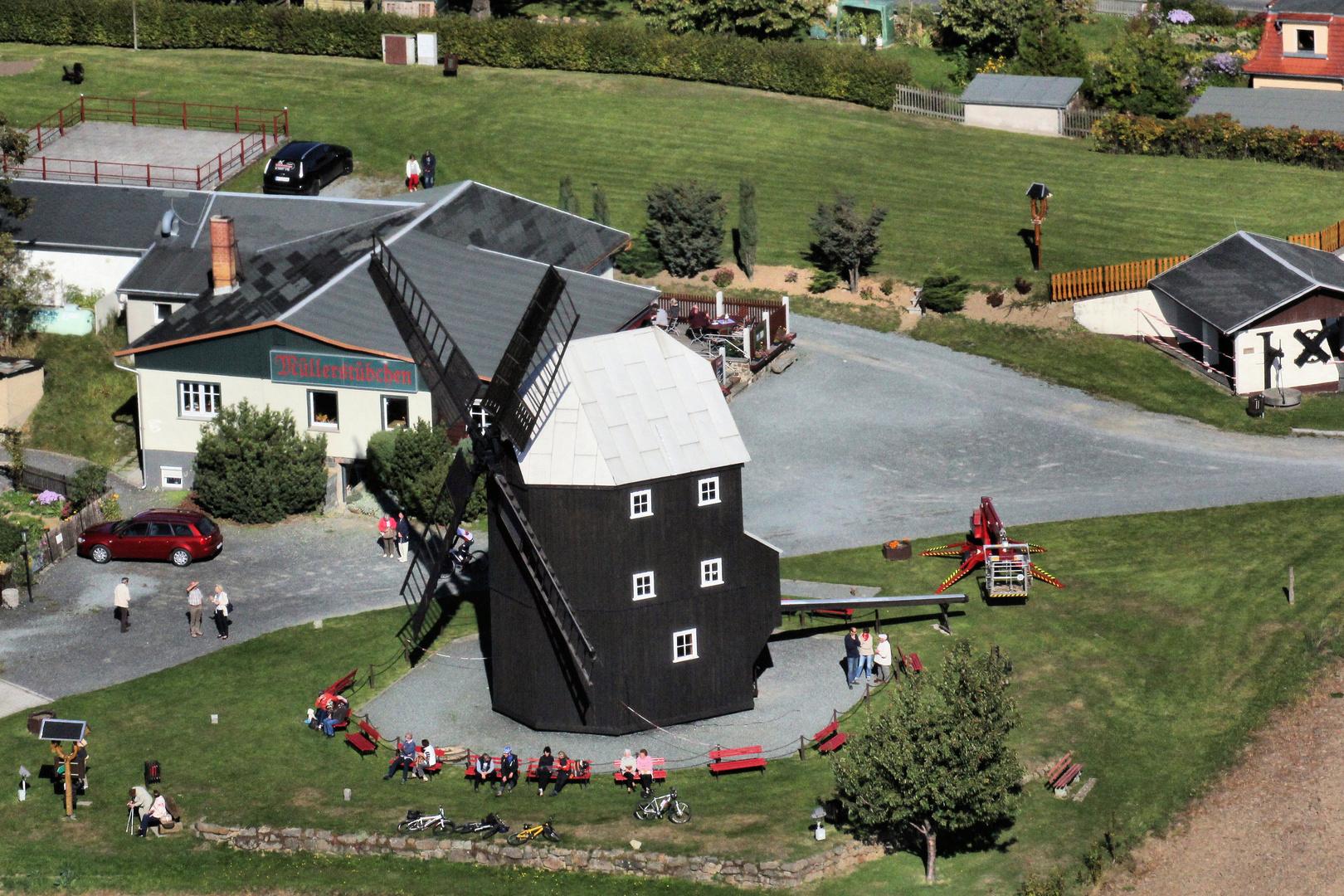 Kottmar-Mühle von oben