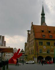 Kräftig satte Herbstfarben  ,-)   mitten in Ulm