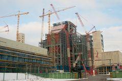 Kraftwerk Hamburg Moorburg im Bau