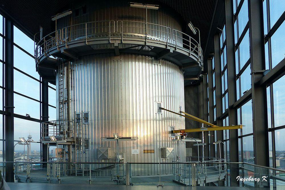 Kraftwerk Lausward - auf dem Dach