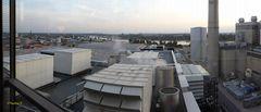 Kraftwerk Lausward - Blick vom Dach auf die Anlage und Umgebung