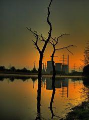Kraftwerk Stockum zum Morgengrauen