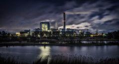 Kraftwerk Tiefstack unter Volllast
