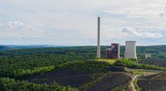 Kraftwerk Weiher und Wald