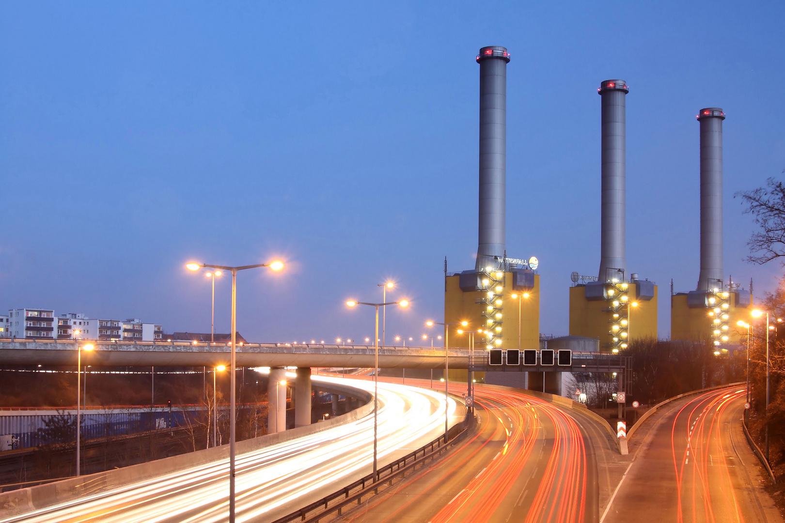 Kraftwerk Wilmersdorf und A100