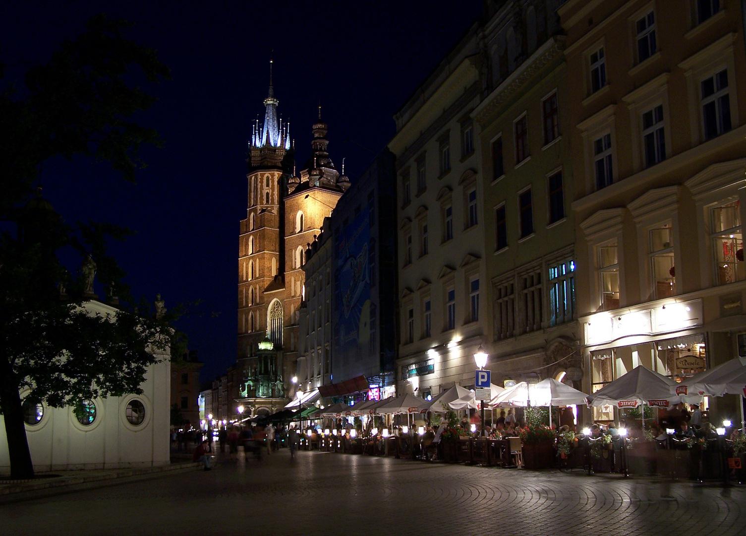 Krakau in der Nacht