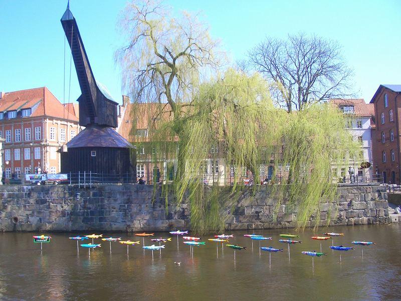 Kran am Wasserviertel in Lüneburg