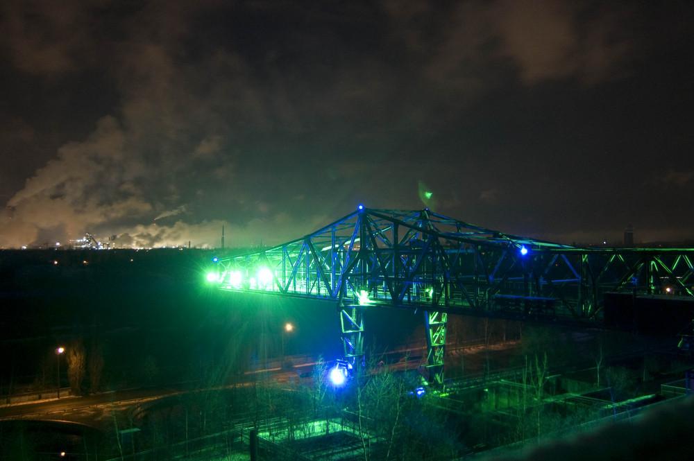 Kran bei nacht