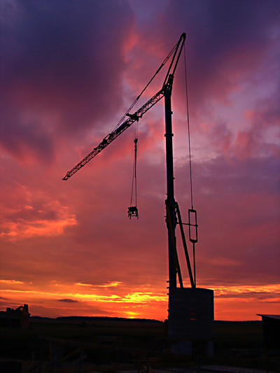 Kran-Sunset